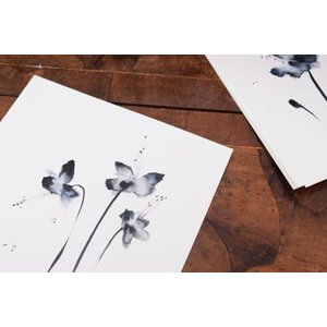 DUEALBERI | BLACK FLOWERS WATERCOLOR PRINT | A4 アートプリント/ポスター|hafen|03