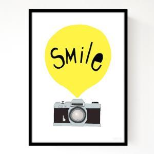SEVENTY TREE   SMILE YELLOW   アートプリント/ポスター (30x40cm) hafen