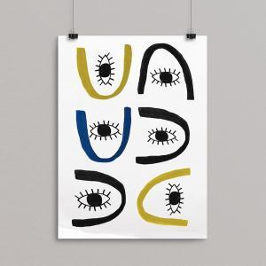 SEVENTY TREE   ALL EYES PRINT   アートプリント/ポスター (30x40cm) hafen