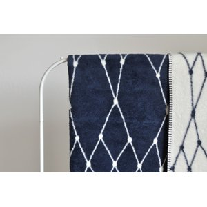 bastisRIKE | THE GRID - COTTON BLANKET (navy blue) | ブランケット|hafen