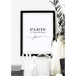 LOVELY POSTERS | PARIS JE T'AIME MON AMOUR (white) | A3 アートプリント/ポスター|hafen