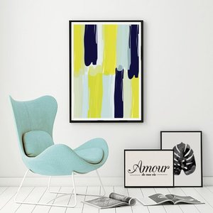 LOVELY POSTERS   PAINT STROKES   A3 アートプリント/ポスター hafen