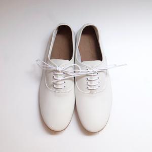 minan polku | soft balmoral shoes (white) | 39サイズ/24.5cm|hafen