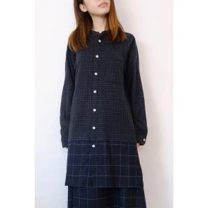 【SALE セール】Hiroyuki Watanabe | オンクルパジャマシャツ (navy) |トップス|hafen