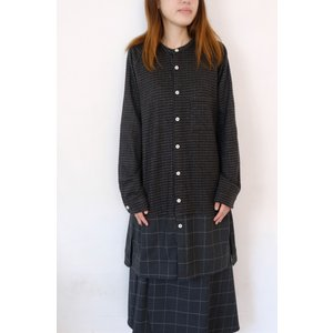 【SALE セール】Hiroyuki Watanabe | オンクルパジャマシャツ (charcoal) |トップス|hafen