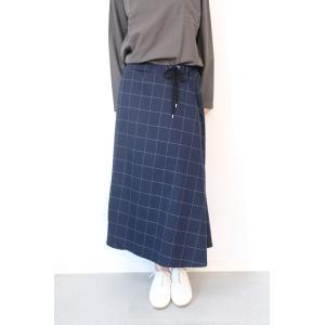 【SALE セール】Hiroyuki Watanabe | オンクルパジャマスカート (navy)|ボトムス|hafen