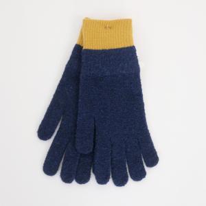 meri ja kuu | 氷の浮き輪 手袋 (navy/mustard) | 手袋|hafen