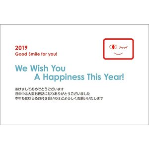私製年賀はがき 10枚   2019年 亥年 年賀状 猪 いのしし  NE0905-002 hagaki