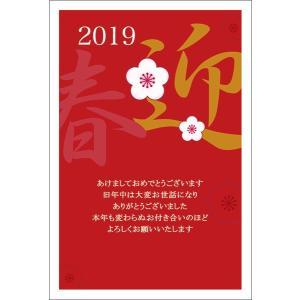 【年賀はがき 10枚】 2019年亥年 年賀状 印刷 NE0905-062 猪 いのしし お年玉くじ付き|hagaki