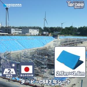 ブルーシート CSR2年シート 2.7mX3.6m|hagihara-e