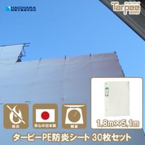 PE防炎シート 1.8mx5.1m 30枚 (10枚X3梱包)|hagihara-e