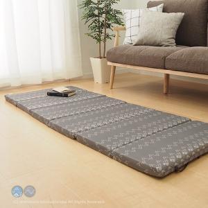 接触冷感 6つ折りマットレス キリムクール 約65×175cm 折り畳み ロングクッション ごろ寝マ...