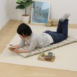 インド綿 ロングクッション セポ 約43×120cm 綿100% コットン100% 長座布団 ひも付...