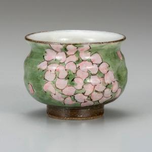 サイズ: 径9.2cm  幅cm  高さ7.5cm  容量cc  Yunomi teacup Flo...