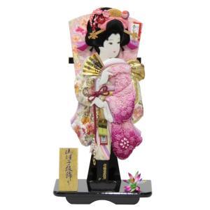 羽子板 台飾り 刺しゅう梅絵四季ボカシ 18号 高さ61cm...