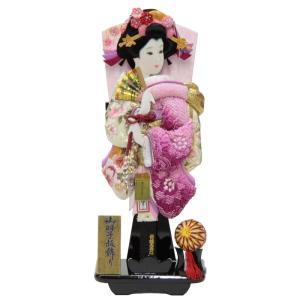 羽子板 台飾り 刺しゅう梅絵四季ボカシ 15号 高さ55cm...