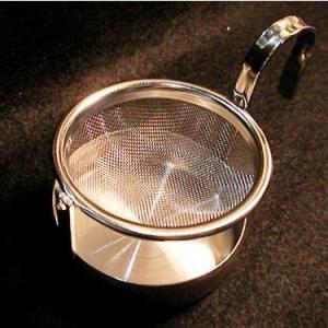 ミラー加工 回転 ドイツ式受け皿ティーストレーナー|hagurachaya2