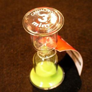 サロニカ ガラス サンドグラス 3min目安 砂時計|hagurachaya2