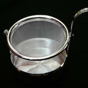 シルバー 回転 ドイツ式受け皿ティーストレーナー(茶こし)|hagurachaya2