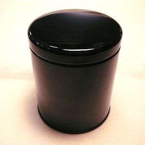 紅茶キャニスター(黒)防湿缶(50〜80g用)|hagurachaya2