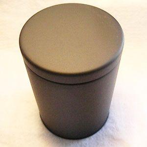 大型キャニスター(マット黒)防湿缶(150〜250g用)|hagurachaya2