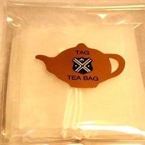 業務用 紅茶茶葉用タグ付きメッシュバッグ1,000枚入り|hagurachaya2