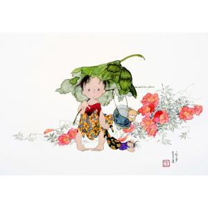 中島潔 レフグラフファイン版画 ふるさとの夏