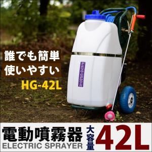 (6/25まで+P5倍) 電動噴霧器 充電式 42リットルタンク HG-42L|haige