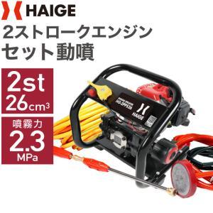(予約:9月下旬入荷予定・予約注文でポイント5倍)(1年保証) 噴霧器 セット動噴 動力噴霧機 据置型 HG-808B|haige
