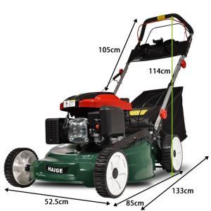 (アウトレット 保無) 芝刈り機 自走式 5馬力 159cc エンジン 刈り幅500mm HG-KCL120S17|haige|06