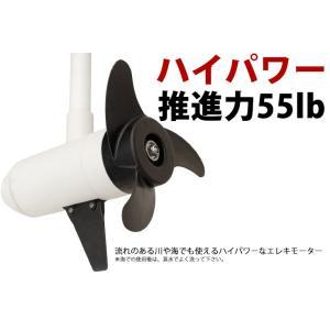 (1年保証) エレキモーター バウモーター リモコン式 48インチ 55ポンド 無段変速 HS-50700-120|haige|03
