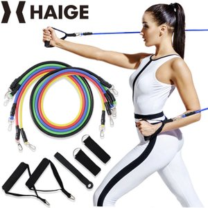 トレーニングチューブ エクササイズチューブ エクササイズバンド フィットネスチューブ 筋トレチューブ 筋トレ|haige