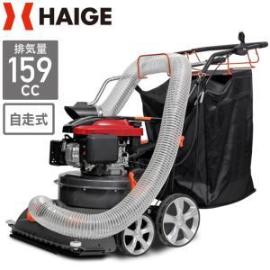 掃除機 落ち葉 自走式 バキューム ブロアー 業務用掃除機 芝生 舗装 サッチング HG580-159S-00 (1年保証)(西濃)|haige