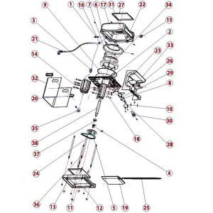 HAIGE かき氷機ZC168 部品番号34.38番一式 H...