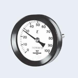 山本計器製造 バイメタル温度計T形φ100 保護官付 BT-T-4 100L(0〜100℃) BS保護管|haikanbuhin