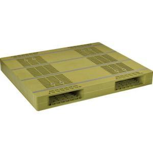 NPC プラスチックパレットZR−110130E 両面ニ方差し ライトグリーン ZR-110130E...