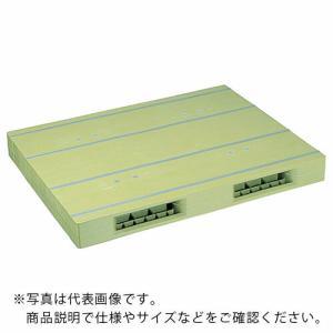 NPC プラスチックパレットZR−1111E 両面二方差し ライトグリーン ZR-1111E-LG ...