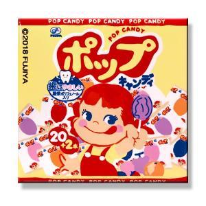 不二家 ポップキャンディー 缶バッジ 角型(ポップキャンディー)  ペコちゃんグッズ