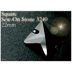 アクセサリーリフォーム パーツ Square Sew-on Stone 3240 22MM カラー ヘアアクセサリー ゆうパケット対応 hair