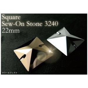 アクセサリーリフォーム パーツ Square Sew-on Stone 3240 22MM カラーエフェクト ヘアアクセサリー ゆうパケット対応 hair
