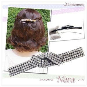 ヘアクリップ ノーラ リボン ヘアアクセサリー 髪飾り|hair