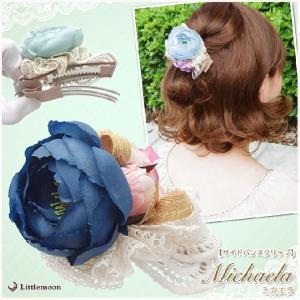 Fairyland サイドバンスクリップ ミカエラ ヘアクリップ お花 リボン ヘアアクセサリー|hair