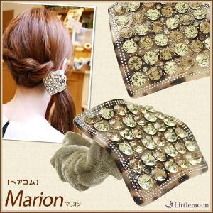 送料無料 ヘアゴム Marble Marble マリオン ヘアアクセサリー べっ甲風 マーブル|hair