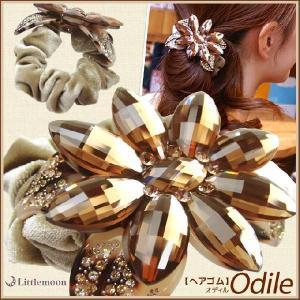 送料無料 ヘアゴム Marble Marble オディル ヘアアクセサリー べっ甲風 マーブルマーブル|hair