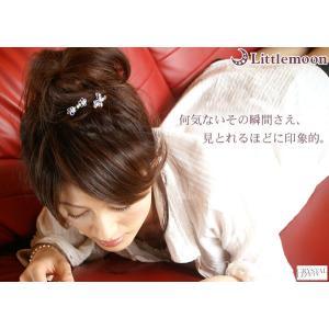 コーム パーティー 女髪の夜会巻きコーム ラシェルSV 6本櫛 ヘアアクセサリー hair