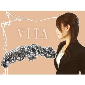 コーム パーティー 夜会巻きコーム  ヴィータ 22本櫛 ヘアアクセサリー hair