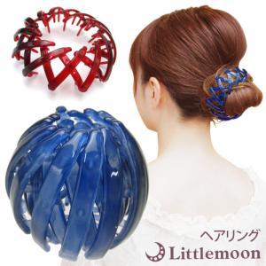 ヘアクリップ ポニー ヘアリング マルチクリップ スクリューボール 大きめ 髪飾り ヘアアクセサリー|hair