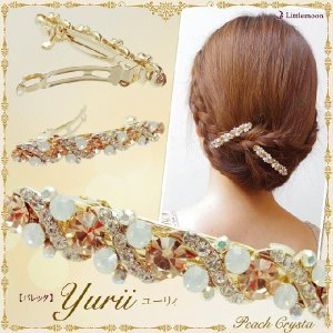 Peach Crysta バレッタ ユーリィ ヘアアクセサリー|hair