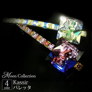 MoonCollection バレッタ カシール クリスタル アシンメトリー ヘアアクセサリー ムーンコレクション スワロフスキー|hair