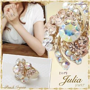 Peach Crysta リング ジュリア アクセサリー 指輪 お花 フラワー|hair